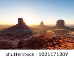 beautiful sunrise over iconic... | Shutterstock . vector #1021171309