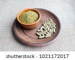 supplement kratom green... | Shutterstock . vector #1021172017