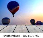 selective focus image of empty... | Shutterstock . vector #1021173757