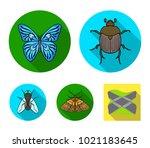 wrecker  parasite  nature ... | Shutterstock .eps vector #1021183645
