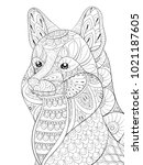 adult coloring page book a cute ...   Shutterstock .eps vector #1021187605