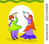 illustration of couple doing...   Shutterstock .eps vector #1021194604