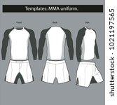 templates uniform for mma... | Shutterstock .eps vector #1021197565