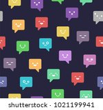 chat icon seamless vector... | Shutterstock .eps vector #1021199941