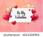 2018 valentine's day background ... | Shutterstock .eps vector #1021204501
