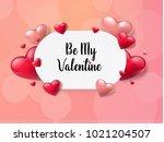 2018 valentine's day background ... | Shutterstock .eps vector #1021204507