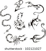 stylized creature. vector set   Shutterstock .eps vector #102121027