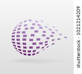 ball 3d decay effect on a... | Shutterstock .eps vector #1021214209