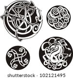 round celtic knots. vector set. | Shutterstock .eps vector #102121495