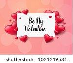 2018 valentine's day background ... | Shutterstock .eps vector #1021219531
