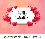 2018 valentine's day background ... | Shutterstock .eps vector #1021219534