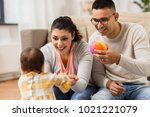 family  parenthood and people... | Shutterstock . vector #1021221079