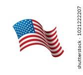 usa flag isolated | Shutterstock .eps vector #1021222207