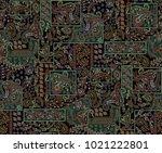 seamless paisley design | Shutterstock . vector #1021222801