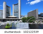 Stock photo toronto civic square 102122539