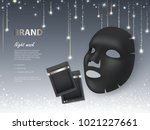 vector cosmetic banner with 3d... | Shutterstock .eps vector #1021227661