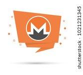 monero symbol in flat design   Shutterstock .eps vector #1021231345