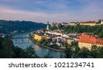 far view of burghausen | Shutterstock . vector #1021234741