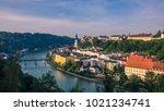 far view of burghausen | Shutterstock . vector #1021234741