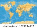 political vintage golden blue... | Shutterstock .eps vector #1021246117
