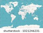political vintage world map... | Shutterstock .eps vector #1021246231