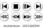media player buttons collection ...   Shutterstock .eps vector #1021260544