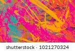 abstract painting. ink handmade ... | Shutterstock . vector #1021270324