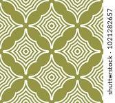 geometric ornament. olive green ... | Shutterstock .eps vector #1021282657