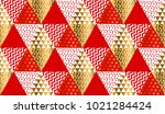 red and gold xmas carnival... | Shutterstock .eps vector #1021284424