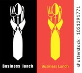 business lunch logo template.... | Shutterstock .eps vector #1021291771