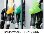 gas station pumps. | Shutterstock . vector #102129337
