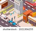 isometric 3d rescue service...   Shutterstock . vector #1021306255