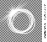 light ring with tracing effect. ... | Shutterstock .eps vector #1021319344