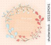 frame of flowers with place for ... | Shutterstock .eps vector #1021329241