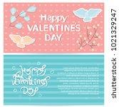 greeting card for st. valentine'... | Shutterstock .eps vector #1021329247