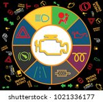 set of multiple car instrument... | Shutterstock .eps vector #1021336177
