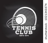 tennis club badge. vector... | Shutterstock .eps vector #1021343374