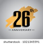 26th anniversary design with... | Shutterstock .eps vector #1021345591