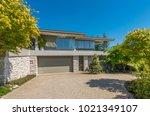big custom made luxury house... | Shutterstock . vector #1021349107