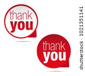 thank you sign label | Shutterstock .eps vector #1021351141