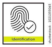 identification finger id... | Shutterstock .eps vector #1021355065