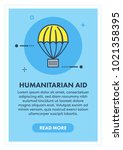 humanitarian aid concept banner ... | Shutterstock .eps vector #1021358395