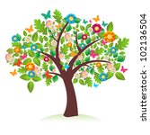 abstract spring time tree... | Shutterstock .eps vector #102136504