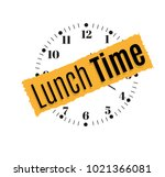 it's time to dine. office wall ... | Shutterstock .eps vector #1021366081
