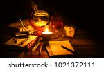 an ancient barometer for... | Shutterstock . vector #1021372111