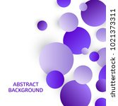 abstract background with violet ... | Shutterstock .eps vector #1021373311