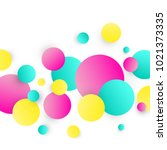 abstract circles background.... | Shutterstock .eps vector #1021373335