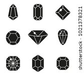 vector jewels or precious... | Shutterstock .eps vector #1021378321