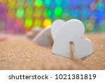 String With Wooden White Heart...