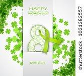 vector 8 of march  ... | Shutterstock .eps vector #1021382557